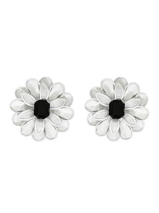 Anna Biblò Optical Orecchini Fiore bianco