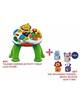 Chicco Toy talking garden activity table + The Savannah Puppies