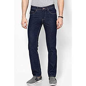 Solid Navy Blue Slim Fit Jeans
