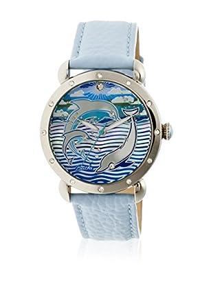 Bertha Uhr mit Japanischem Quarzuhrwerk Estella blau 40 mm