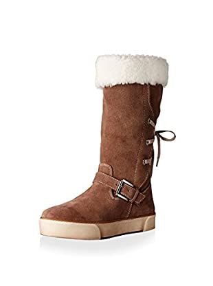 Pegia Women's Tall Boot with Buckle and Lace Up Back
