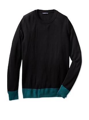 Jacob Holston Men's Holt Colorblock Crew Neck Sweater (Black)