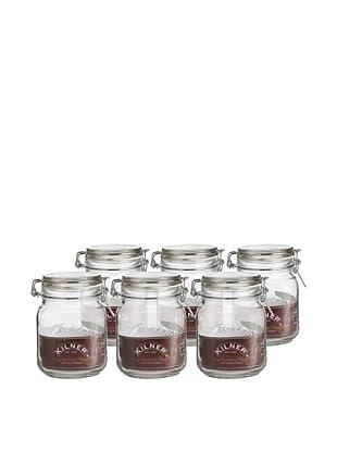 Kilner Set of 6 Clip Top Square Jars