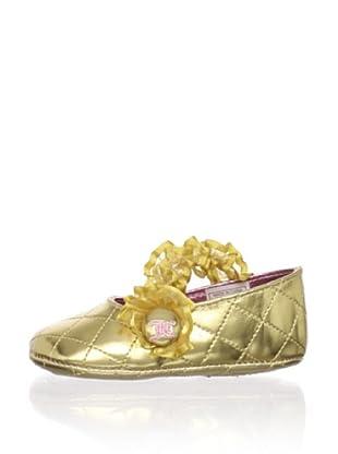 Juicy Baby Elastic Ballet Flat (Gold)