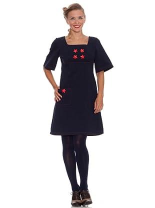 Divina Providencia Kleid mit Taschen (Blau)
