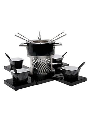 Nouvel Design Fleischfondue-Set Piano 17-teilig inox/schwarz