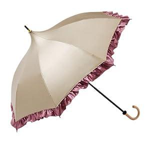 レディース 日傘 遮熱・涼感 パコダ傘 シャンパンベージュ