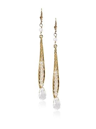 Sophia & Chloe Pea in The Pod Crystal Quartz Earrings