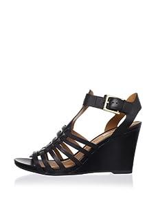 Geox Women's Glicine Wedge Sandal (Black)