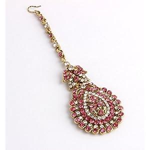 Maang Tikka Featuring Traditional Design, Austrian Diamonds s35