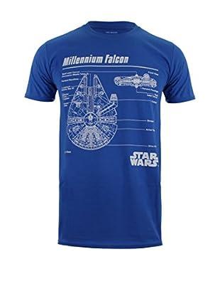 Star Wars T-Shirt Falcon Blueprint