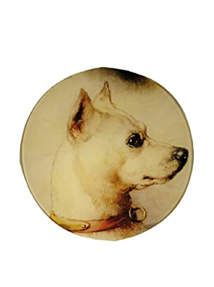 Twigs and Moss Adorable Jack Russell Face Glass Tray