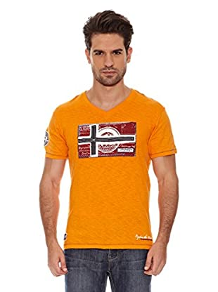 Geographical Norway Camiseta Jeographic Ss Men 202 (Naranja)