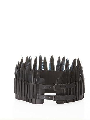 Ann Demeulemeester Women's Feather Belt (Black)