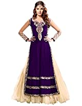 Fabboom Latest New Collection Purple Long Salwar Kameez