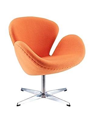 Modway Wing Lounge Chair (Orange)