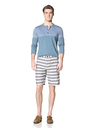 Ben Sherman Men's Oxford Check Short (Rain Storm)