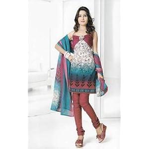 Dress materials - Dress Material Cotton Designer Prints Unstitched Salwar Kameez Suit D.No B10005