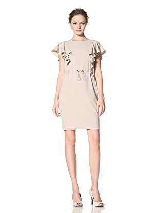 Calvin Klein Women's Flutter Sleeve Dress (Khaki)