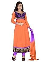 Vardhamn Women's SAKH1 Gazri Georgette Unstitched salwar suit dress material
