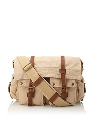 J. Campbell Los Angeles Washed Canvas Cross-Body Messenger (Tan)