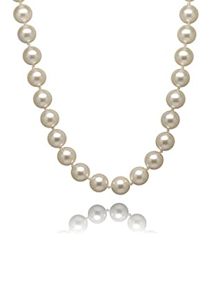 Perldor - 60401008_120 Collar de mujer Gris de ley con perla natural Blanco 120 cm