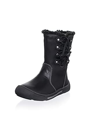 Billowy Kid's Laced Boot (Black)
