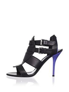 Edmundo Castillo Women's Astrid Sandal (Black/Sea Blue)