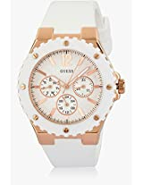 GUESS Overdrive Analog White Dial Women's Watch - W10614L2