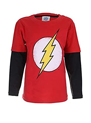 DC Comics Longsleeve Flash Distress Logo
