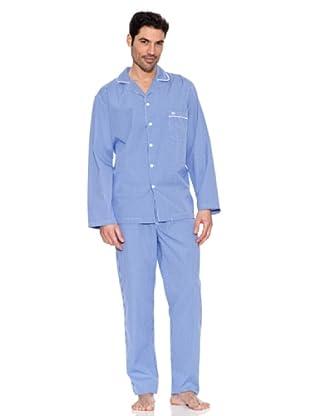 Pedro del Hierro Pijama Cuadros (Azul Claro)