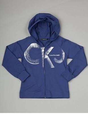 Calvin Klein Jeans Longsleeve Zip Hoodie (Dunkelblau)