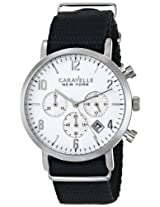 Caravelle New York  Dress Analog White Dial Men's Watch - 43B137
