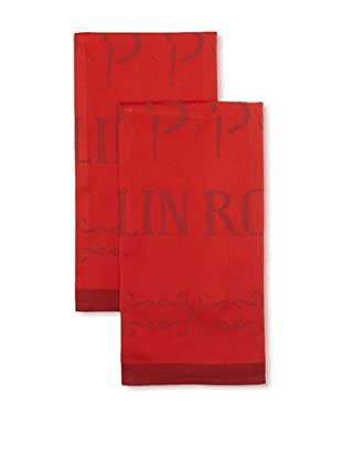 Garnier-Thiebaut Set of 2 Moulin Rouge 'Music Hall' Kitchen Towels (Redlights)