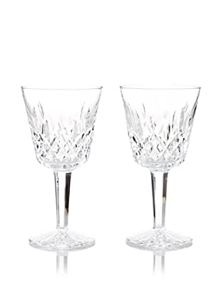 Waterford Pair of Lismore Claret Stems