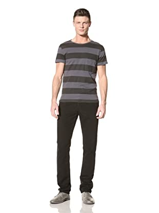 Fremont Men's Bond Pocket Tee (Blue/Charcoal Stripe)