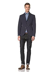 Tallia Men's Voyager 2-Button Jacket (Dark Blue)