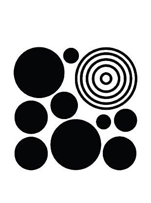Ambiance Live Wandtattoo Black circles schwarz