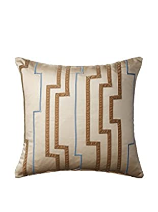 Belmont Home Lorelei Decorative Pillow, Ivory/Gold/Blue