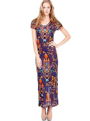 Custo Barcelona Kleid (Blau/Orange)