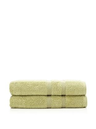 Esplama 2-Piece Mandarin Bath Sheet Set, Jade Green, 35