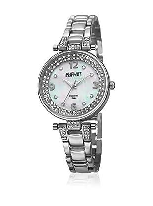 August Steiner Uhr mit schweizer Quarzuhrwerk  silberfarben 32 mm