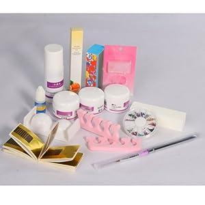 Pro Acrylic Powder Liquid Primer Decoration Kits Diy Nail Art Set Kit W/ Brush Sanding File 3 D Model