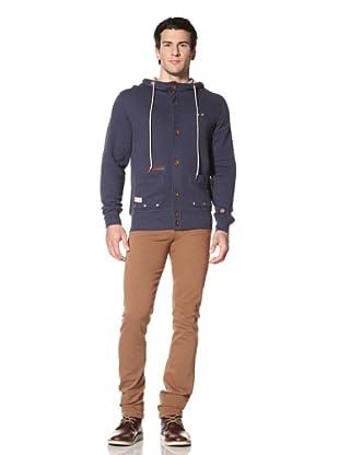 Marshall Artist Men's Button-Up Hooded Cardigan (Navy)