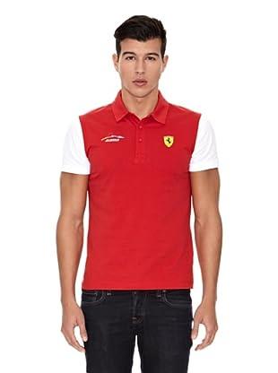 Ferrari Polo shirt Alonso Block (Rojo)