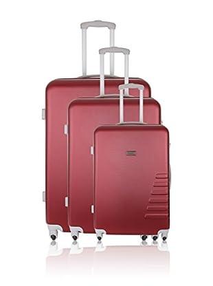 Travel ONE Set de 3 trolleys rígidos Batley Burdeos
