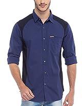 SPYKAR Men Cotton Navy Casual Shirt (X-Large)