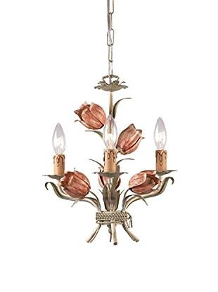 Gold Coast Lighting Southport 3-Light Mini Chandelier, Sage/Rose