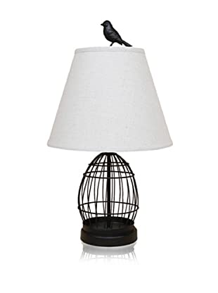 Dennis East Birdcage and Bird Finial Lamp