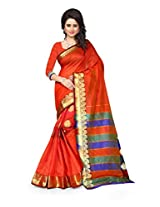 Shree Sanskruti Red Color Tassar Silk Saree For Women